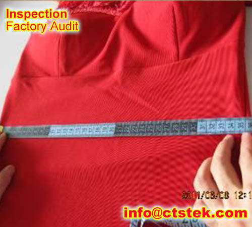 lady dress QC inspection